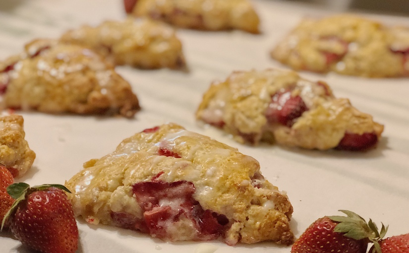 Strawberry & Cream Scones