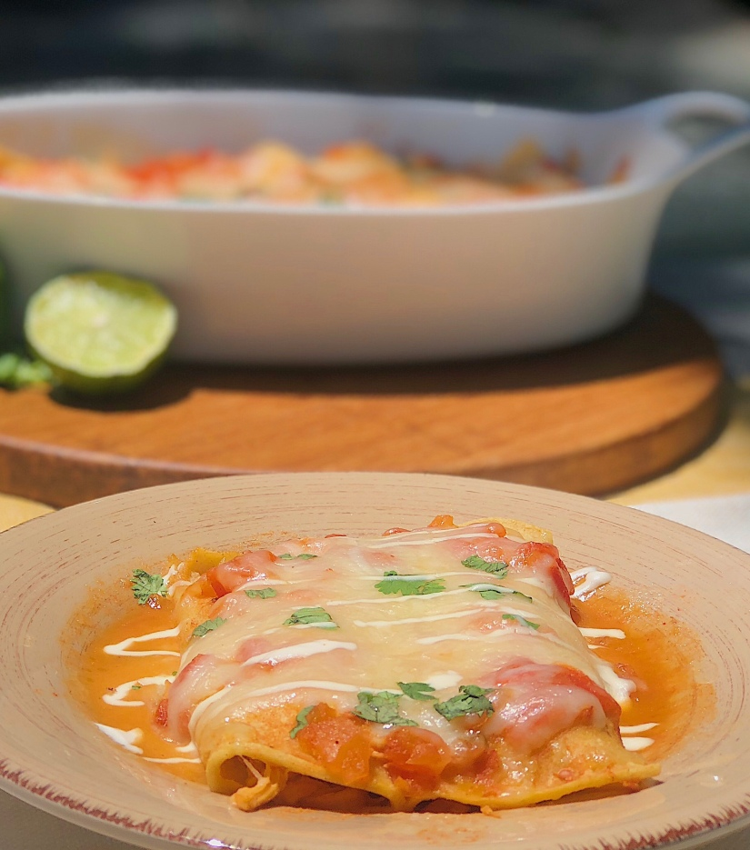 Chicken Enchiladas with Ranchero Sauce